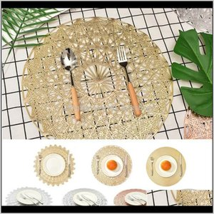 Runner Cloths Textiles Home & Garden Drop Delivery 2021 2 4 6 8Pcs Insulation Pads Pvc Hollowed-Out Table Placemat Non-Slip Mats Coffee Place