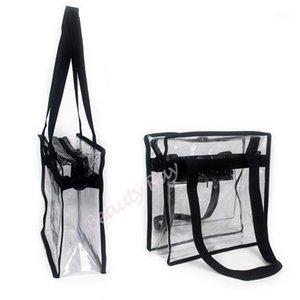 Women Transparent PVC Bag Travel Organizer Handbag Makeup Shoulder Bags Waterproof Clear Cosmetic Bag1