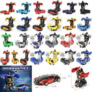 One-key Deformation Car Toys Automatic Transform Robot Plastic Model Funny Diecasts Boys Amazing Gifts Kid Toy