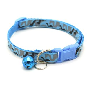 Practical Small Pet Necklace With Bell Camouflage Puppy Collars for Protecting Training Walking Dog Adjustable Collar 584 R2