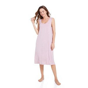 Women's Sleepwear Modal Summer Thin Nightdress Casual Sleeveless Soft And Comfortable Smooth Viscose Home Sexy Lingerie For Women