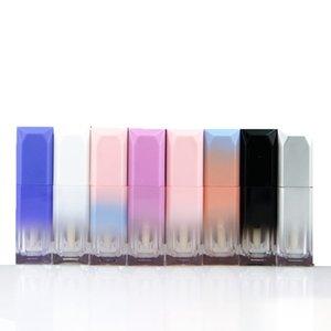 5 мл Градиентный цвет Lipgloss пластиковые бутылки контейнеры пустые прозрачные губные глянцевые трубки для глаз контейнер для ресниц