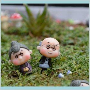 Sanat ve El Sanatları Sanatlar, Hediyeler Ev Bahçe Toptan-1 Çift Bonsai Bebek Evi Minyatürleri DIY Eski Büyükanne Peri Gnome Hayvanlar Moss Terra