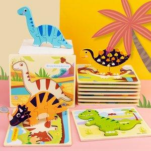 3d Dinosaur Jigsaw Puzzle Children's Cartoon Early Education Baby Shape Matching Toys RAZ3730