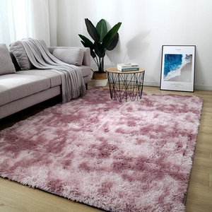 Carpets Bedroom Plush Rug Living Room Coffee Table Rectangular Thick Carpet Nordic Thickened Tie-dyed Silk Wool Decoration