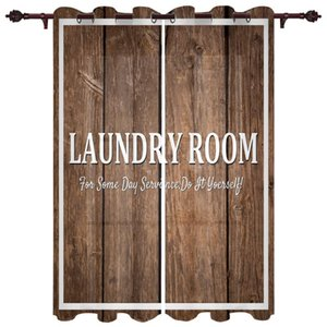 Curtain & Drapes Living Room Luxury Curtains Laundry Wood Grain Kitchen Bedroom Decoration Outdoor Pavilion