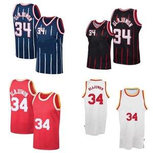 2021 Basketball-Jersey Hot 34 Hakeem Olajuwon Weiß Red Jersey für Top-Qualität