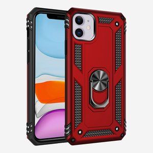 Armor Hybrid Case for Iphone XS XR 11 12 PRO MAX with TPU PC Ring Kickstand design back cover Samsung A21 A31 S30 Ultra 5G