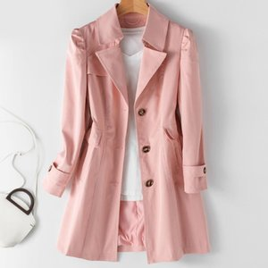 Women's Trench Coats Spring Autumn Coat Woman Korean Single-breasted Mid-Long Women Overcoat Plus Size 5XL Windbreaker Female