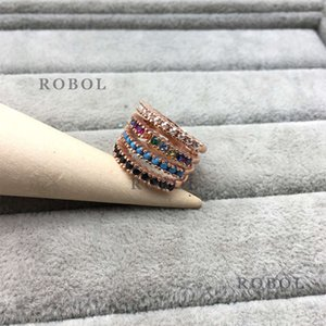 Ring Spanish Bear Boutique S925 Sterling Silver Ring, Colorful Golden Tones, Add Happiness, Fineness, Intellectual Elegance