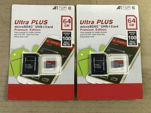 DHL Versand Hohe Qualität Neue Ultra A1 16 GB / 32GB / 64GB / 128 GB / 256GB Ist-Kapazität Micro-Speicher SD-Karte 100MB / S-Kamera UHS-I C10 TF-Karte