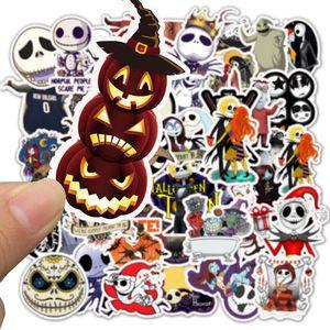 50Pcs-Pack Halloween Skull Pumpkin Party Vinyl Sticker Waterproof Stickers for Water Bottle Laptop Planner Scrapbook Phone Mac Wardrobe Wall Case Organizer Decal