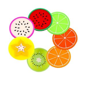 Kitchen Gadgets Silicone Cup mat Coaster Creative Fruit Style Heat Resistant Placemat Cute Drink Table bar Accessories