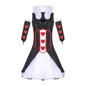 Costumes Sexy Cosplay Cosplay Costume Halloween Femme Queen of Hearts Game Uniforme