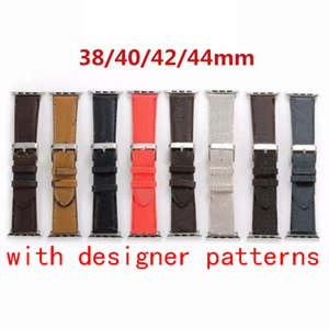 Fashion  designer For Apple Watch 6 Band 5 4 3 2 1 Genuine Leather iWatch Bracelet Strap Bands Wristband for Apple Watch Band 44mm 40mm 42mm 38mm
