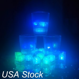 Other Stage Lighting Mini Party Lights Square Color Changing LEDs ice cubes Glowing Cubess Blinking Flashing Novelty Supply UAS STOCK CRESTECH888
