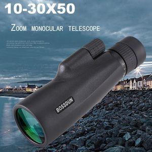Telescope & Binoculars 10-30×50 Powerful Monocular Long Range Zoom Pocket Spotting Eyeglass For Hunting Camping Tourism Children
