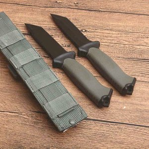 Promotion Outdoor Survival Straight Knife 12C27 Tanto Point Black Blade Full Tang FRN Handle Camping Hiking Rescue Knives With Kydex