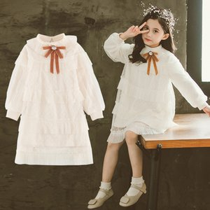 Girls Dresses 2020 New Spring Children Clothes Girls Cute Bow Princess Dress Baby Kids Party Dress 3 4 5 6 7 8 9 10 11 12 Years X0401