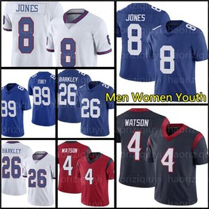 26 Saquon Barkley Jersey 19 Kenny Golladay 89 Kadarius Toney Football 8 Daniel Jones Lawrence Taylor 4 Deshaun Watson men women youth