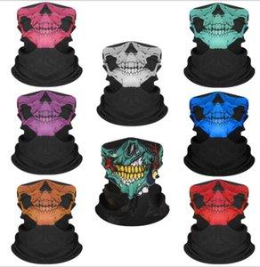 Seamless Hip Hop Skull Bandanas magic headscarf riding mask Tube Neck Face Mask Sport magic Headband Pick Skull Print Bandana 233 designs