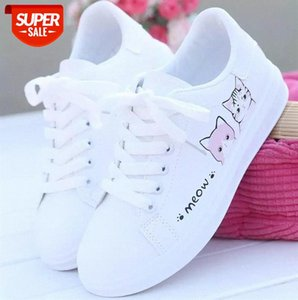 Akexiya Women's shoes white women 2020 new wild spring and autumn sports casual #yu4g