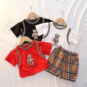 Kids Clothing Sets Summer 2021 Korean fashion boys and girls baby cotton short-sleeved shorts designer clothes trend
