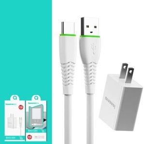 Комплекты зарядных устройств Кабель Тип-С Микро USB + 5В 2А Стена Зарядка быстрой Зарядки Телефон Адаптер переменного тока Вспомогательное Путешествие с розничной коробкой