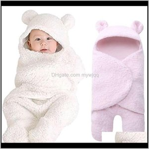 Sets Clothing Baby, Kids & Maternity Drop Delivery 2021 Born Baby Boy Girl Swaddle Sleeping Wrap Plush Cotton Sleepwear Blanket Po Prop Zugad