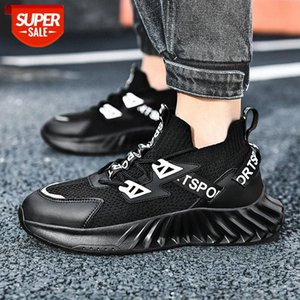 men's spring front lace round head flying thread knitted fashion casual daily low-top sneakers #ui92