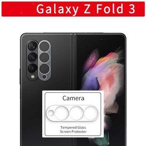 50pcs bag Tempered Glass Screen Films for Samsung Galaxy Z Fold3   Galaxy Z Filp3 Phone Camera lens Protective film