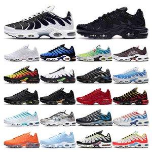 TN Artı Koşu Ayakkabıları Erkek Beyaz Volt Siyah Metalik Hiper Mavi Oreo Dünya Çapında Degrade Nefes Moda Spor Sneakers Eğitmenler Açık