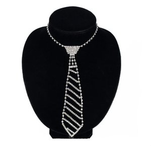 European and American jewelry diamond tie long necklace women's bow fashion set clothing