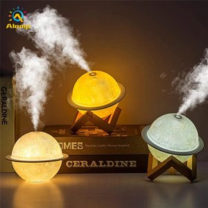 Moon Humidifier Table Lighting Lamp USB 200ml Essential Oil Diffuser Air Purifier Ultrasonic Mist Maker For Home Office