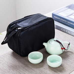 1 горшок 2 чашки портативный керамический кунг-фу путешествие чай наборы комплектации бизнеса деятельности культурных и творческих подарков