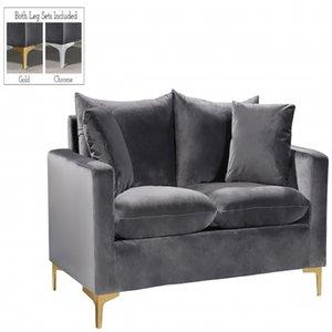Modern Gold Frame White Black living room Furniture Durable Metal lint Love seat sofa Suit for Home Hotel restaurant