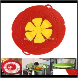 Parts Kitchen, Dining Bar Home & Garden Drop Delivery 2021 Kitchen Gadgets Sile Lid Spill Stopper Cover 26Cm Diameter Cooking Pot Lids Utensi