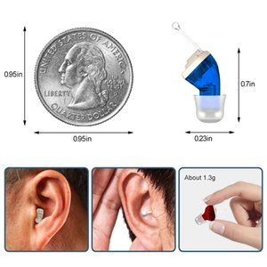 Hearing Aids Rechargeable Invisible For Deafness   Elderly Adjustable Micro Wireless Hearing Aid Sound AmplifierRabin