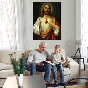 Sacred Heart of Jesus Huge Oil Painting On Canvas Home Decor Handcrafts  HD Print Wall Art Picture Customization is acceptable 21051126