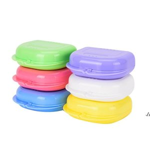 Storage Boxes Compact Colorful Dental Orthodontic Retainer Box Case for sale mouthguards biteguards dentures Sport Guard DWD6156