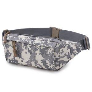 High Density Oxford Cloth Men's Waist Bag Waterproof Abrasion Resistant Outdoor Sport Bumbag For Running Hiking Climbing.