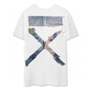 Летняя футболка с короткими рукавами тенденция пятиточечный рукав Harajuku Корейская повседневная BATA Hong Kong Style Four