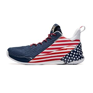 """Anta Klay Thompson KT4 original Basketball Shoes of men Final Low """"Independence Day"""" outdoor sports Breathable fashion Sneakers 11931102-3"""