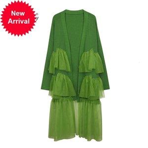Warmsway all'uncinetto lungo cardigan solido aperto Stich 2020 Autumn Autumn Casual Fashion Stylish Chic C-491 Maglione