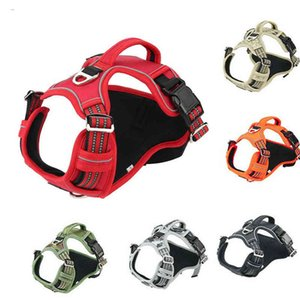 Dog collars Reflecting Harna Adjustable Safety Vehicle Lead Bands Breathing Harness Walking Training Perros Accesorios 0722