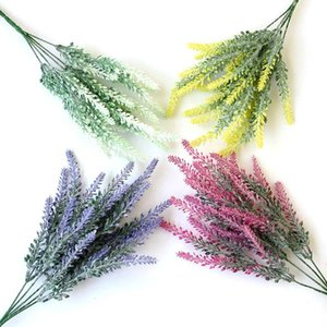 Artificial Flowers Lavender Seahorse Grass Branch Bridal Bouquet DIY Wedding Garden Decoration Wreaths Fake Plant For Home Decor Decorative