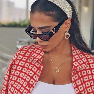 V Letter Style Man Woman Unisex Sun Glasses Summer Street Classic Sunglasses Fashion Full Frame UV400 6 Color High Quality