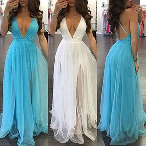 New Women BOHO Long Party Prom Floral Summer Beach Maxi Dress Ladies Womens Dresses Sexy Sundress