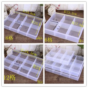 Lidless plastic multi grid transparent parts electronic components product display box, multi-function classif