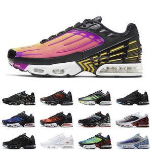TN Artı 3 Tuned Bayan Erkek Koşu Ayakkabıları III Lazer Mavi Derin Kraliyet Siyah Kırmızı Gri Eğitmenler Sneakers